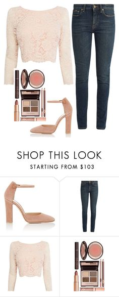 """Untitled #292"" by jasmine-rlrh on Polyvore featuring Gianvito Rossi, Yves Saint Laurent, Coast and Charlotte Tilbury"