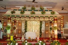 Check out the delightful marriage Halls in Chennai. Book best halls at affordable price only at bookmyfunction Wedding Hall Decorations, Marriage Decoration, Flower Decorations, Backdrop Decorations, Background Decoration, Engagement Decorations, Martha Stewart Weddings, Indian Wedding Stage, Wedding Mandap