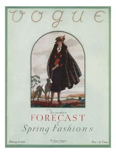 Vogue Cover - February 15 1922 Poster Print by Leslie Saalburg at the Condé Nast Collection