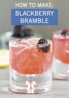Fruit and citrus are always a delicious cocktail combination—and this recipe for Blackberry Bramble is no exception! Gin, fresh lemon juice, and blackberry syrup are all you need to make this refreshing drink. Blackberry Bramble, Blackberry Syrup, Blackberry Recipes, Refreshing Cocktails, Summer Drinks, Bramble Cocktail, Juice Drinks, Fresh Lemon Juice, Simple Syrup