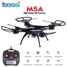 Cheap drone with, Buy Quality rc drone directly from China dron Suppliers: Teeggi RC Drone With HD Camera Remote Control RC Helicopter Quadcopter Dron VS SYMA Dron Drone With Hd Camera, Rc Drone, Drones, Rc Helicopter, Remote Control Toys, Drone Photography, Rc Cars, Vr