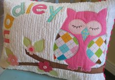 She has an Etsy shop and makes the most adorable things! I want one for Brooklyns owl room Sewing Projects For Kids, Sewing For Kids, Craft Projects, Craft Ideas, Owl Pillow, Quilt Pillow, Owl Always Love You, Owl Crafts, Cute Pillows