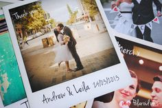 Personalised Polaroid CardsWEDFEST - Festival Themed Wedding Stationery | WED FEST