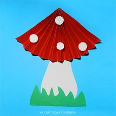 Accordion mushrooms for autumn decorations - New Deko Sites Creative Crafts, Diy And Crafts, Crafts For Kids, Arts And Crafts, Summer Camp Crafts, Camping Crafts, Paper Cup Crafts, Diy Paper, Origami