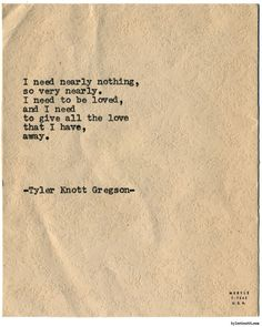 Typewriter Series #1573 by Tyler Knott GregsonChasers of the...