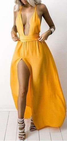 #summer #outfits / yellow dress
