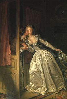 Jean-Honore Fragonard oil painting reproduction  -- Look at the detail in that dress!
