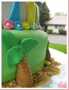 Palm tree/ luau cake