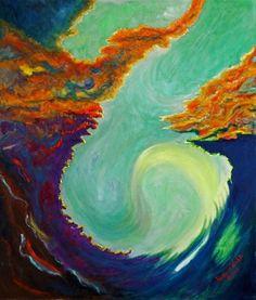 """Ice, Wind, Fire"" - Original Fine Art for Sale - © Patricia Voelz"