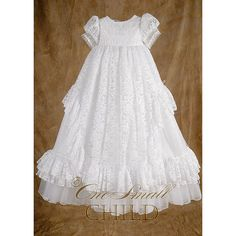 Lucy Baptism Christening Gown by OneSmallChild on Etsy