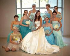 Ombre bridesmaids