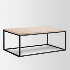 Quantity [4] — Box Frame Coffee Table (Wide version, whitewash)
