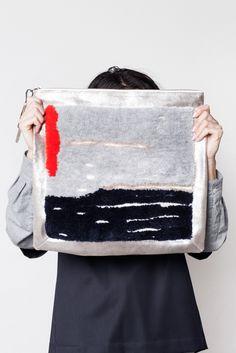 Rachel Comey Landscape Bag: Folds into a clutch, opens to a shoulder bag.