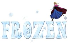 #Frozen Font - Follow this easy picture tutorial to make this whimsical Frozen font style, it's fun and free.