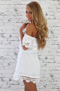 Spanish Dress - White   SABO SKIRT