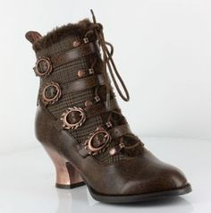 Nephele Steampunk Shoes by hades I need these 😍