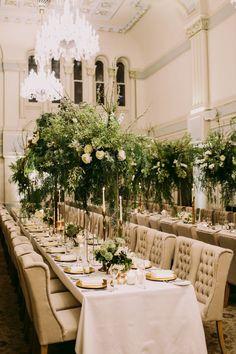 glam wedding receptions - photo by Lara Hotz http://ruffledblog.com/chic-australian-wedding-with-greenery-and-gold