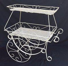 Wrought Iron Flower Cart Flower Cart Vintage Tea Rooms