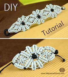 Macramé Flower Bracelet Tutorial ✿✿✿ #Macramé #Flower #Bracelet #Tutorial