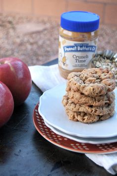 Crunchy Peanut Butter Apple Oatmeal Cookies