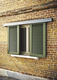 Gelosie is a system dedicated to external windows shutters, thanks to the high resistance to weathering. Discover more on our website Hurricane Window Shutters, Wooden Window Shutters, Window Shutters Exterior, Sliding Window Treatments, Sliding Windows, Blinds For Windows, Windows And Doors, Modern Windows, Modern Shutters