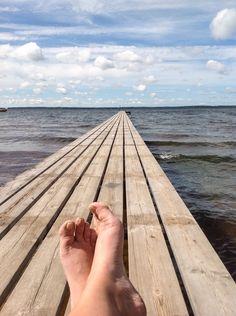Summer in Finland. Just chill and relax! Lake, Pyhäjärvi, Eura