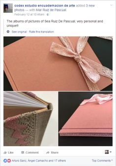 2017.02.21 - Beautiful Bookbinding-Themed Facebook Accounts - codex estudio encuadernacion de arte