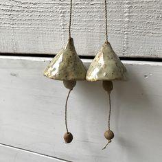 Blij om dit item uit mijn #etsy shop te delen: Two unique handmade ceramic bells making a bright sound. Artisan wallhanging. Handmade Pottery, Musical Instruments, Decorative Bells, Bright, Drop Earrings, Etsy, Jewelry, Home Decor, Music Instruments