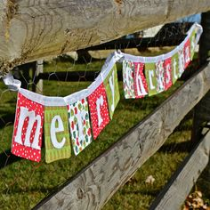 Merry Christmas banner! Merry Christmas Banner, Christmas Gifts To Make, Christmas Sewing, Christmas Time, Christmas Crafts, Christmas Decorations, Xmas, Holiday, Christmas Ideas
