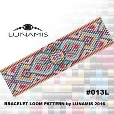 Bracelet loom patterns / square stitch made with size 11/0 Miyuki round beads Width: 3,6 cm / 1.4 (25 columns) Length: 15,7 cm / 6.2 Colors: 7 Patterns include: - Large colored numbered graph paper (and non-numbered in another files) - Bead legend (numbers and names of Miyuki round beads colors ) - Word chart - Pattern preview This pattern is intended for users that have experience with loom and the pattern itself does NOT include instructions on how to do this stitch. 1...