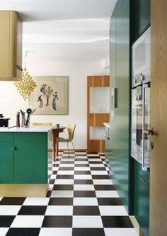 Grönt kök à la 60-tal