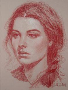 Pencil Portrait Drawing, Portrait Sketches, Pencil Art Drawings, Portrait Art, Art Sketches, Horse Drawings, Drawing Art, Pastel Portraits, Charcoal Art