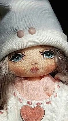 Одноклассники Pretty Dolls, Cute Dolls, Beautiful Dolls, Doll Face Paint, Doll Painting, Tilda Toy, Homemade Dolls, Sock Dolls, Clothespin Dolls