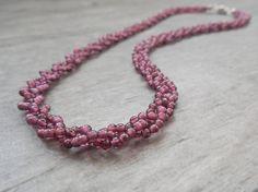 Everyday Garnet Necklace Cranberry Deep Red