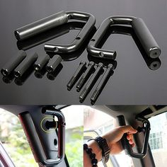 Black Grab Bar Front Grab Handle for Jeep Wrangler JK Sahara Sport Rubicon X & Unlimited 2/4 Door 2007 2008 2009 2010 2011 2012 2013 2014 2015 Pair: Amazon.ca: Automotive