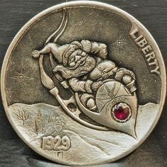 ....SOLD.... Hobo Nickel, Coin Art, Coin Collecting, Art Forms, Sculpture Art, Miniatures, Carving, Antiques, Ranger