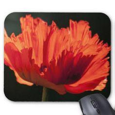 Ornamental Poppy Mouse Pad