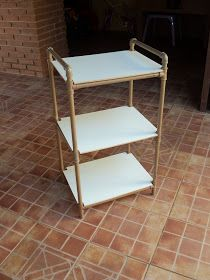 DIY rolling cart with old pipes
