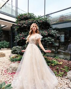 beautiful young bride with blond hair in luxurious wedding dress posing in beautiul patio with bushes of roses - Buy this stock photo and explore similar images at Adobe Stock Luxury Wedding Dress, Wedding Dresses, Prom Poses, Blonde Hair, Stock Photos, Bride, Stuff To Buy, Image, Beautiful