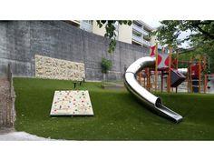 Kindergarden playground equipment - outdoor  climbing walls for children using 3D panels
