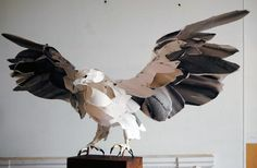 White Bellied Sea Eagle, 2010, by paper and mixed media artist Anna-Wili Highfield.
