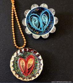 Diy quilled pendants.