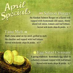 April 2011 monthly specials