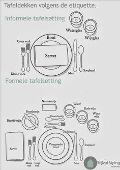 Stijlvol Styling: DIY tafeldekken en servetten vouwen volgens de etiquette www.stijlvolstyling.com