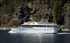 Certainly the most graceful yacht on Lake Tahoe, the Safari Rose awaits you for a memorable outing on this spectacular mountain lake. Style and elegance are reflected in every facet of this classic yacht. Lake Tahoe Vacation, Luxury Yachts, Cruises, Safari, Wedding Venues, Boat, Photos, Wedding Reception Venues, Wedding Places