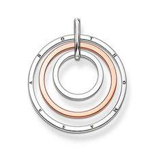 Thomas Sabo Circles Ring Three Ring Pendant  From Crystaljewelryuk.com