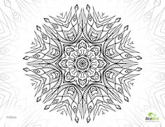 Indiana mandala flower http://dicebird.com/inddiana-mandala-flower-free-grown-up-coloring-sheets/