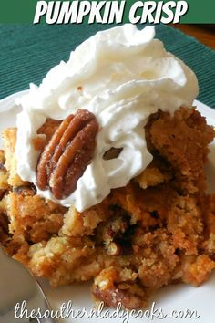 Easy, delicious pumpkin dessert that is wonderful for any meal or holiday event. Easy, delicious pumpkin dessert that is wonderful for any meal or holiday event. Fall Dessert Recipes, Thanksgiving Desserts, Great Desserts, Fall Desserts, Holiday Recipes, Luncheon Recipes, Holiday Foods, Holiday Dinner, Recipes Dinner