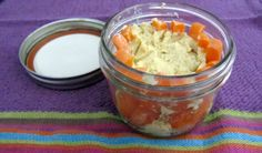 Easy Office Lunchs Sans Microwave: carrots & hummus