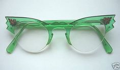The librarian at my high school used to wear glasses like this - except they were black.